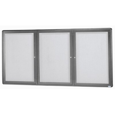 AARCO Radius Design Enclosed Bulletin Board