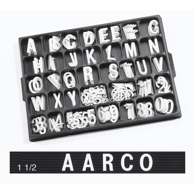AARCO Universal Single Tab Helvetica Typeface Changeable Letters (138 characters per set)
