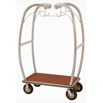 AARCO Curved Bellman's Luggage Cart