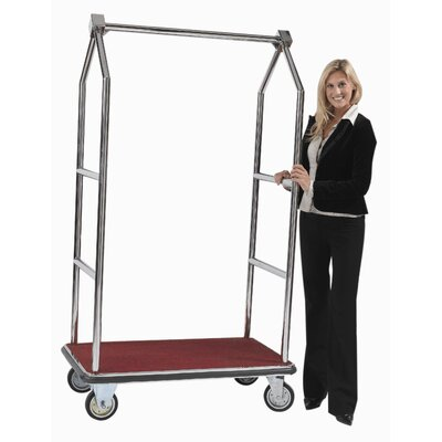 AARCO Tall Luggage Cart with Red Carpet