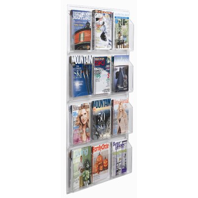 AARCO Clear-Vu 12 Pocket Magazine and Literature Display