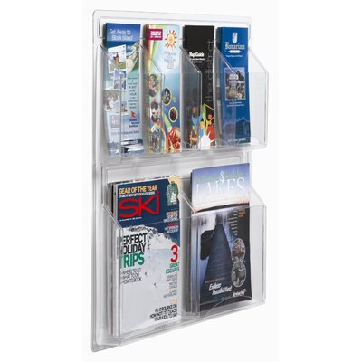 AARCO Clear-Vu Combination Pamphlet and Magazine Display