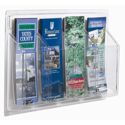 AARCO Clear-Vu 4 Pocket Pamphlet Display