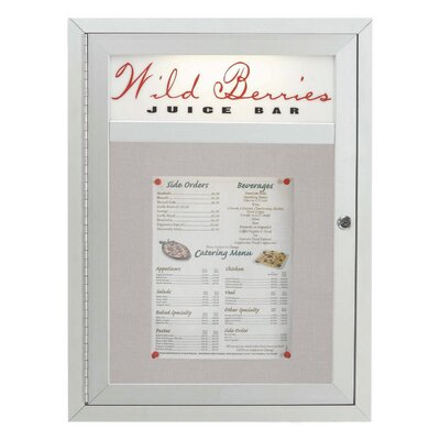 AARCO Aluminum Frame Enclosed Bulletin Board