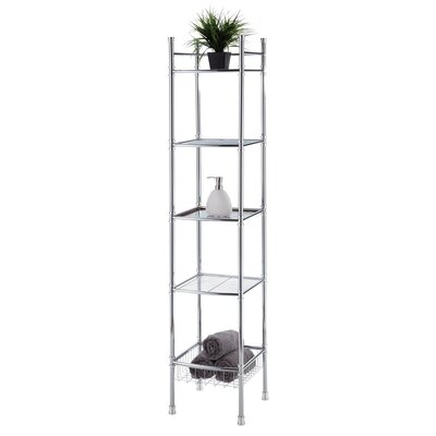 "Fox Hill Trading 13"" x 63"" 5 Tier Tower Shelf"