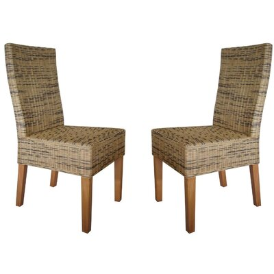 Fox Hill Trading Rattan Living Wicker Dining Chair (Set of 2)