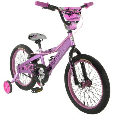 "Mongoose Girls 18"" Lark BMX Bike With Training Wheels"