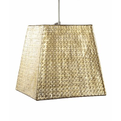 Selamat Selene 1 Light Square Tapered Pendant