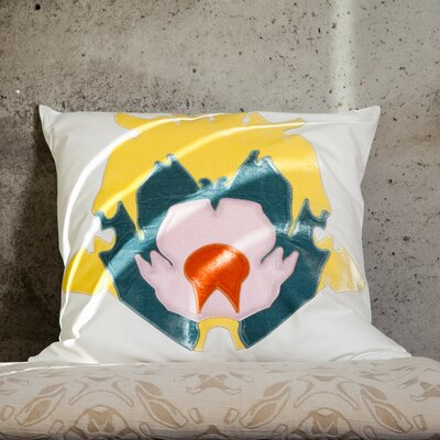 Stone Flower Applique Pillow