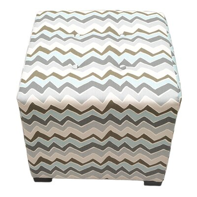 Sole Designs Denton Cotton Square Cube Ottoman