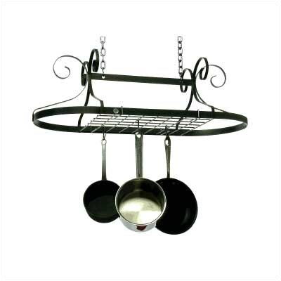 Decor Oval Ceiling Mount Pot Rack