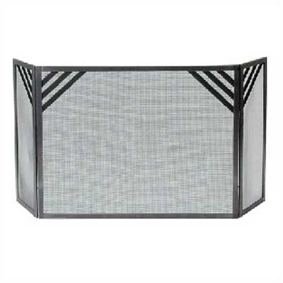 Enclume Chevron 3 Panel Steel Fireplace Screen