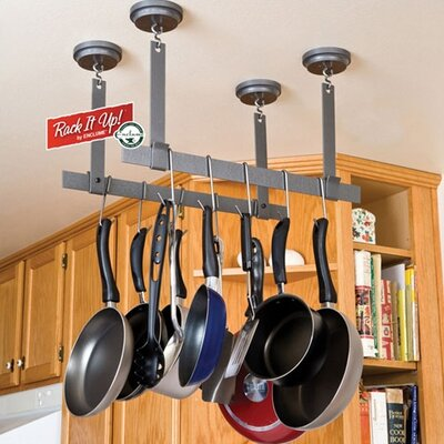 RACK IT UP! Ceiling Bar Hanging Pot Rack