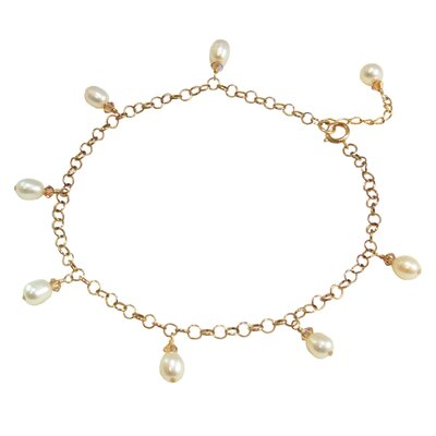 Vivian Yang Cultured Pearl Chinese Love Anklet