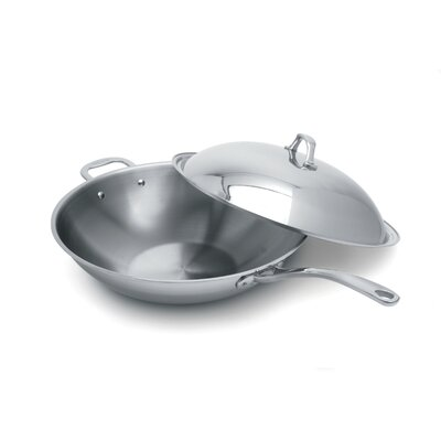 Elite 6.35 Quart Covered Wok with Helper Handle