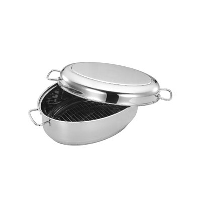 "Cuisinox 15.2"" x 10"" Covered Oval Roaster"