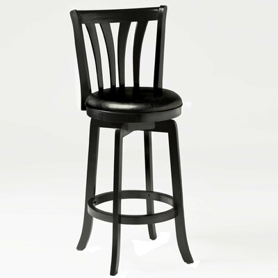 Hillsdale Furniture Savana Swivel Counter Stool in Black