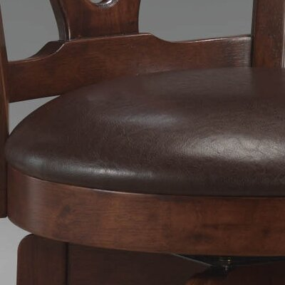 "Hillsdale Furniture Corsica Swivel 24.5"" Counter Stool with Vinyl Seat in Brown"