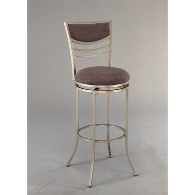 "Hillsdale Furniture Amherst 24"" Swivel Counter Stool in Champagne"