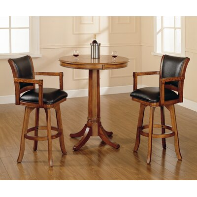 Hillsdale Furniture Park View Pub Set in Medium Brown Oak