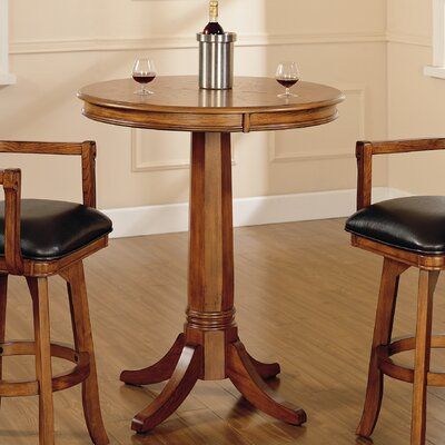 Hillsdale Furniture Park View Bar Height Table in Medium Brown Oak