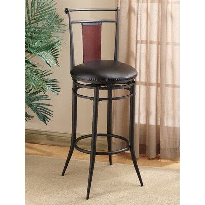 "Hillsdale Furniture Midtown 30"" Swivel Wood Back Bar Stool"