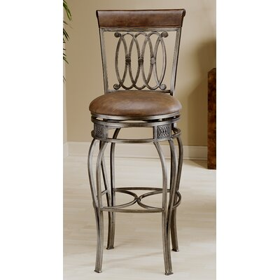 "Hillsdale Furniture Montello 27.5"" Swivel Bar Stool with Cushion"