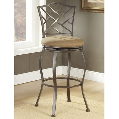 Hillsdale Furniture Brookside Bar Height Glass Bistro Table with Hanover Stools