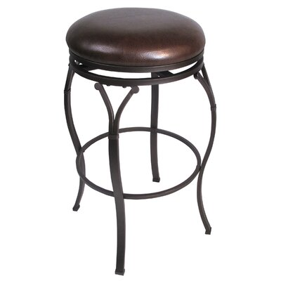 Hillsdale Furniture Lakeview Backless Counter Stool in Brown