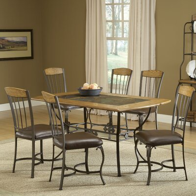 lakeview 7 piece dining set features rustic style lakeview collection