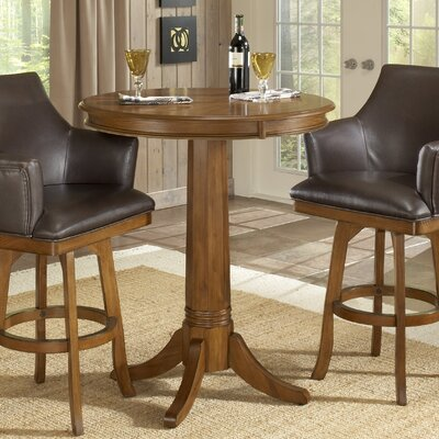 Hillsdale Furniture Park View Bar Table in Medium Brown Oak