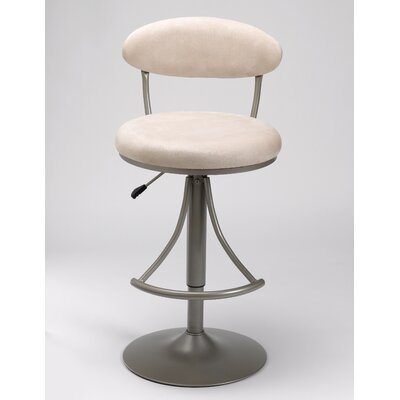 Hillsdale Venus Adjustable Swivel Bar Stool - Fawn Faux Suede