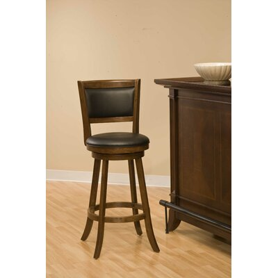 Hillsdale Furniture Dennery Swivel Bar Stool in Cherry