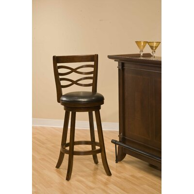 Hillsdale Furniture Elkhorn Swivel Counter Stool in Cherry