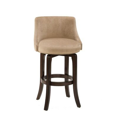 Napa Valley Swivel Counter Stool in Textured Khaki and Cherry