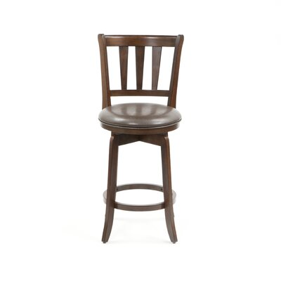 Hillsdale Furniture Presque Isle Swivel Counter Stool in Cherry