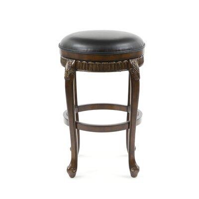 "Hillsdale Furniture Fleur De Lis 30"" Backless Swivel Bar Stool"