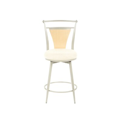 "Hillsdale Furniture London 24"" Swivel Counter Stool in Champagne"