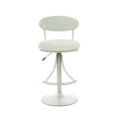 Hillsdale Venus Adjustable Swivel Bar Stool - Atmosphere Faux Suede