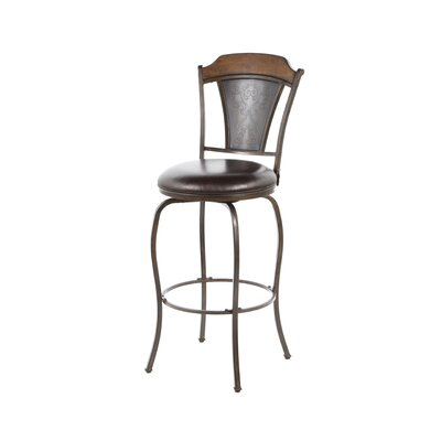 <strong>Hillsdale Furniture</strong> Huntington Swivel Stool in Distressed Chestnut Brown