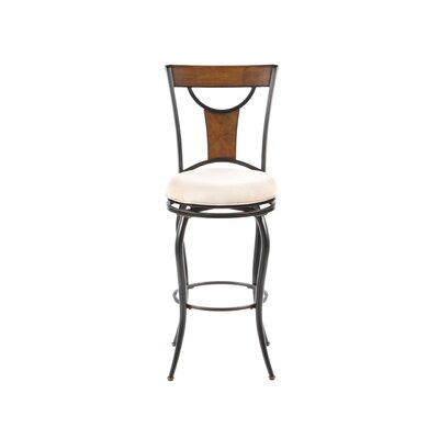 "Hillsdale Furniture Pacifico 30"" Swivel Barstool in Black"