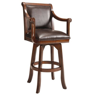 "Hillsdale Furniture Palm Springs 30"" Swivel Bar Stool in Medium Brown Cherry"