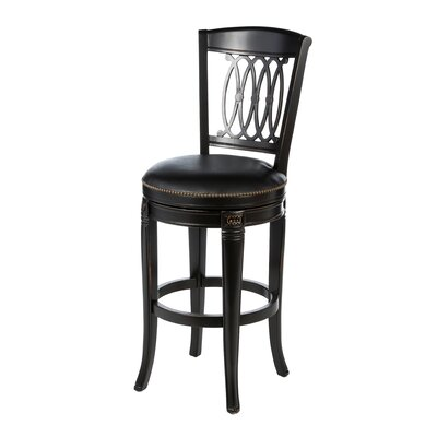 Montello Wood Swivel Stool in Black Honey