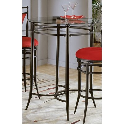 "Hillsdale Furniture Cierra Bistro Set- 30"" Bar Stools in Pewter with Black Fabric"