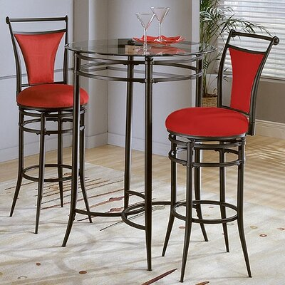 Hillsdale Furniture Cierra Bistro Set - Flame Chairs