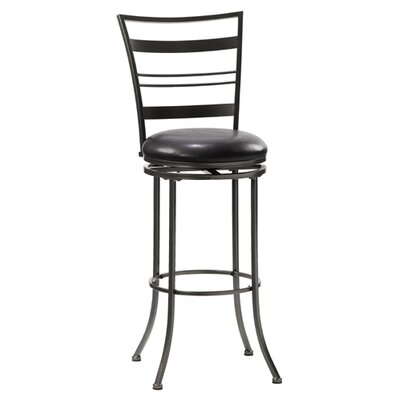 "Hillsdale Furniture Holland 30"" Swivel Bar Stool in Pewter"