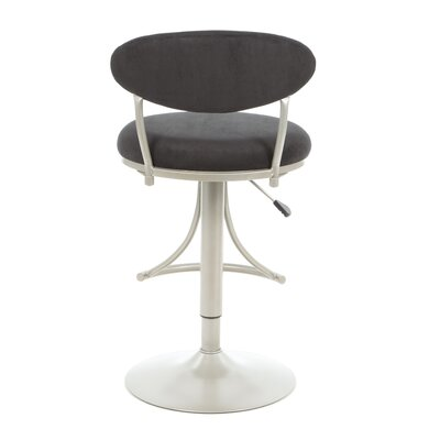 Hillsdale Furniture Swivel Bar Stool - Venus Adjustable Faux Suede