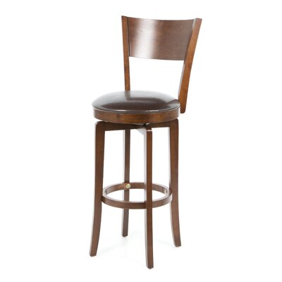 Archer Swivel Bar Height Barstool in Brown