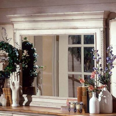 Hillsdale Furniture Wilshire Antique White Mirror