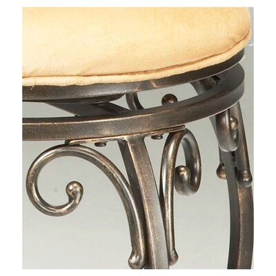 "Hillsdale Furniture Knightsbridge 26"" Swivel Bar Stool with Cushion"